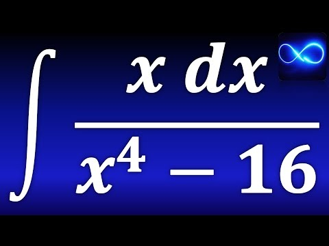 235. Integral de x dx entre x^4 - 16, aplicando fórmula