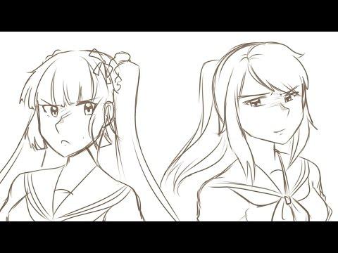 『Yandere Simulator』Epic Rap Battles of Akademi - Osana vs Ayano 1 Hour