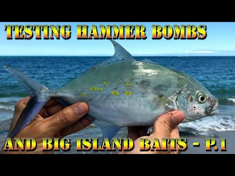 Testing Our New Hawaii Saltwater Tackle - Hammer Bombs - Big Island Baits - Papio - BODS 40 Part 1