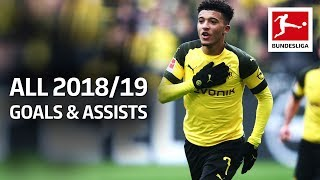 Jadon Sancho - All Goals and Assists 2018/19