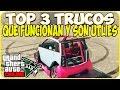 TRUCOS GTA 5 ONLINE - TOP 3 TRUCOS QUE FUNCIONAN Y SON UTILES - GTA 5 ONLINE GLITCH