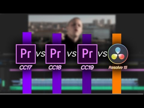 Premiere 17 vs 18 vs 19 vs DaVinci Resolve 15 - RENDER TEST
