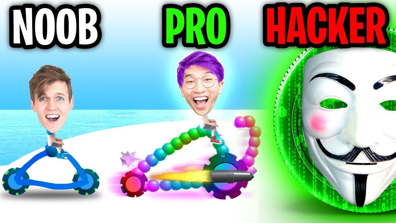 Download Can We Go NOOB vs PRO vs HACKER In DRAW JOUST!? (FLYING GLITCH!?)