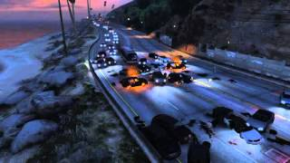 GTA 5 CAR CRASH HIGHWAY 10 MINUTES BLOW UP