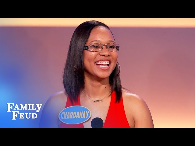 Stuck for a baby name? A glass of wine might help! | Family Feud