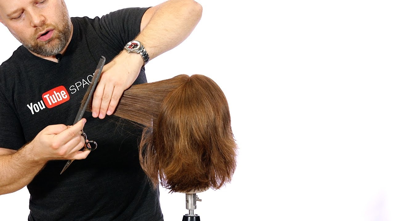 Step By Step Textured Bob Haircut With A Fringe Thesalonguy Youtube