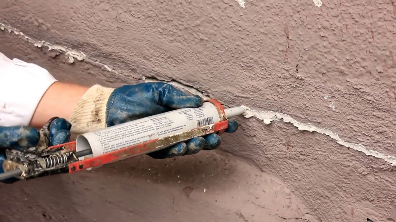 Quickrete Caulking Cracks In Stucco Caulking With Sand In