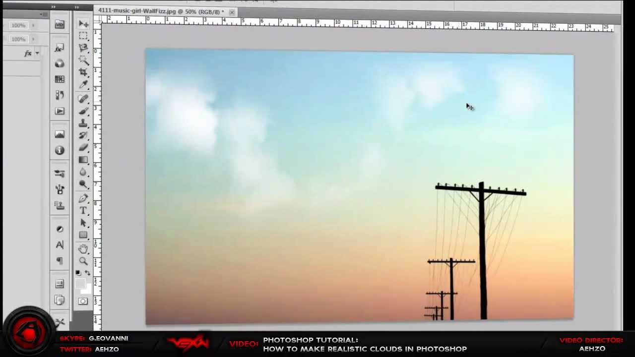 How to make photoshop clouds in