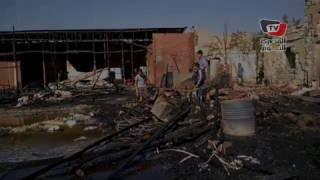 الحماية المدنية تزيل آثار حريق «سوق الجمعة» بالسيدة عائشة