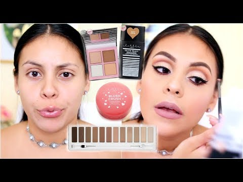 NEW AMAZING DRUGSTORE BRAND?! TESTING OUT LOTTIE LONDON MAKEUP!