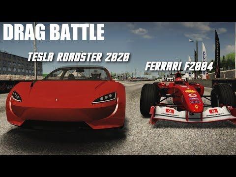 TESLA ROADSTER 2020 VS HYPERCARS (F1,...