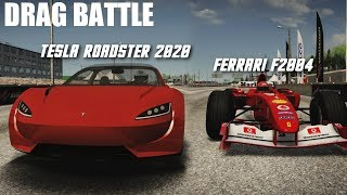 TESLA ROADSTER 2020 VS HYPERCARS (F1, CHIRON, REGERA & MORE) DRAG BATTLE | ASSETTO CORSA