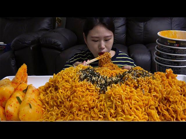 삼양 불닭볶음면 총각김치 먹방 MUKBANG