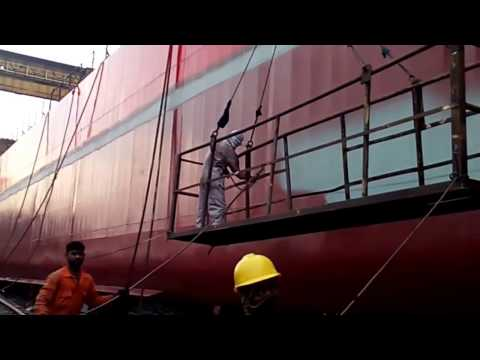 How to paint a new ship 3rd Coat Final Spray Painting
