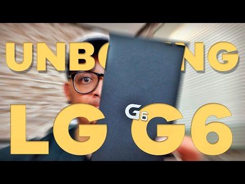 Tirando da caixa o LG G6 - Unboxing