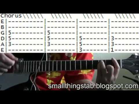 Blink 182 All the small things tab guitar lessons online