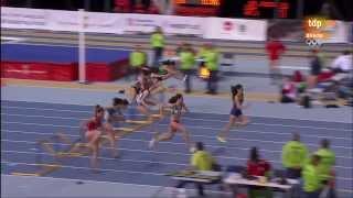 60 m vallas mujeres final campeonato de España de atletismo 2014 en pista cubierta