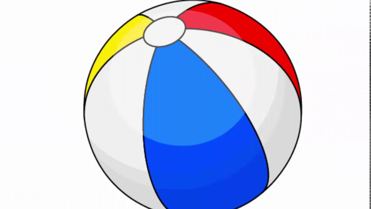 Beach Ball Adobe Illustrator Cs6 Tutorial How To Draw Simple Summer  Inflatable Ball