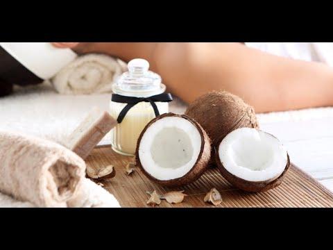 Польза кокоса в косметологии.Кокосовый скраб для тела и маска для волос.