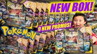 NEW POKEMON CARDS TAG TEAM POWERS COLLECTION BOX!! 9 NEW PROMO CARDS!! EARLY OPENING!