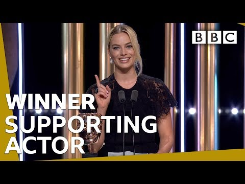 Margot Robbie accepts Brad Pitt's Supporting Actor BAFTA 2020 🏆 - BBC