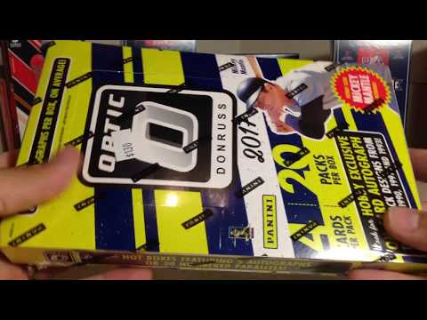 Opening my 2nd Hobby Box of 2017 Panini Donruss Optic Baseball Cards with Low # Autograph Pull!!