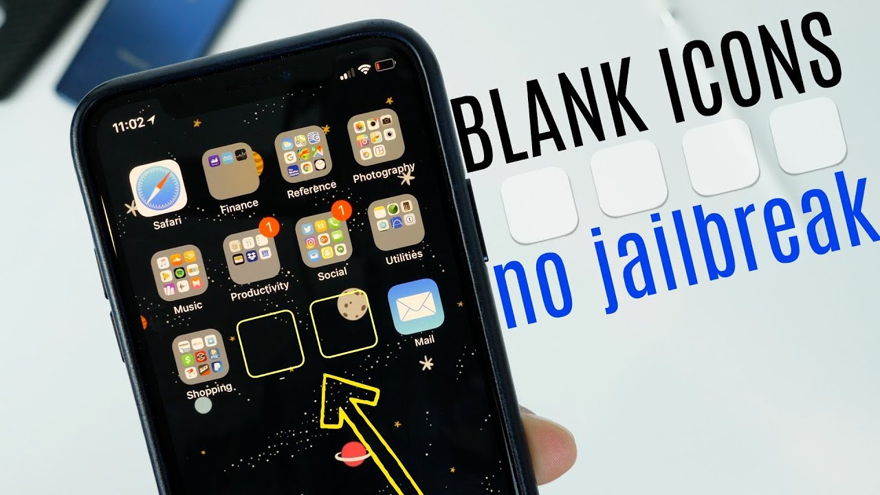 How to create blank icons on your iPhone, no jailbreak required