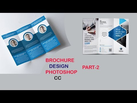 Tri-Fold Brochure Design In Photoshop||Brochure Design tutorial part-2 thumbnail