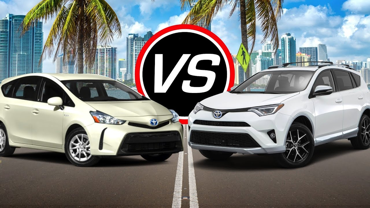 2016 Toyota Prius V Vs Rav4 Hybrid Spec Comparison