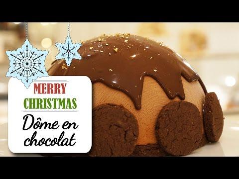 le-dôme-au-chocolat-fondant---recette-dessert-noël