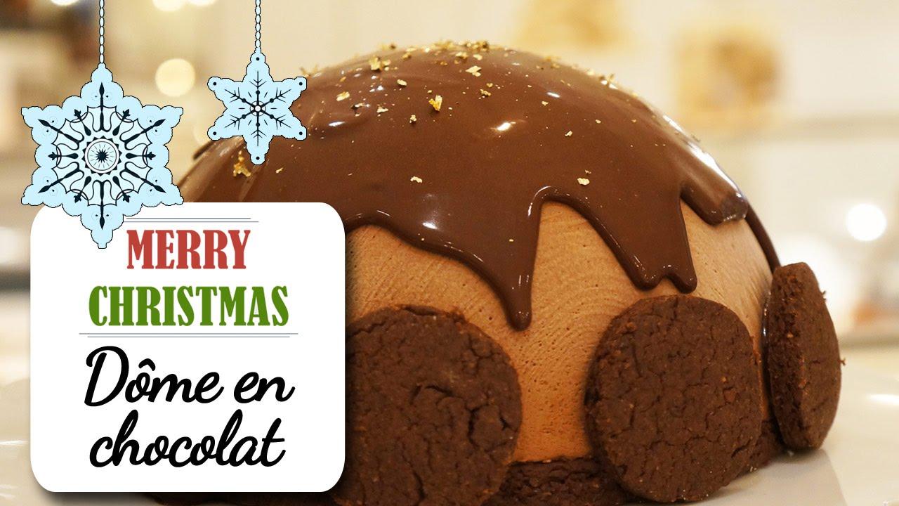 Le d me au chocolat fondant recette dessert no l youtube - Recette de noel dessert ...