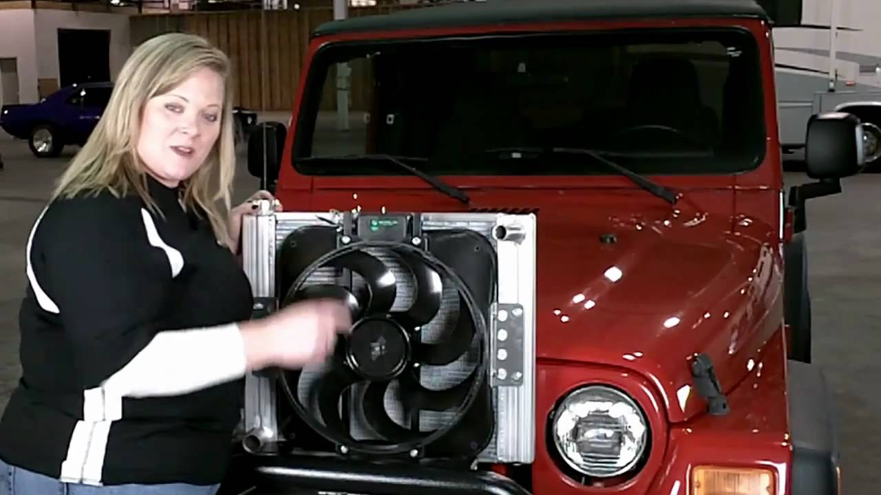 Flex A Lite 60187 Jeep 87 06 Wrangler Radiator Fan Combo As Spal Thermo Wiring Diagram Installation Youtube