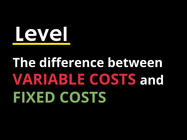 Know your Numbers: Variable Costs and Fixed Costs in a Contracting Business