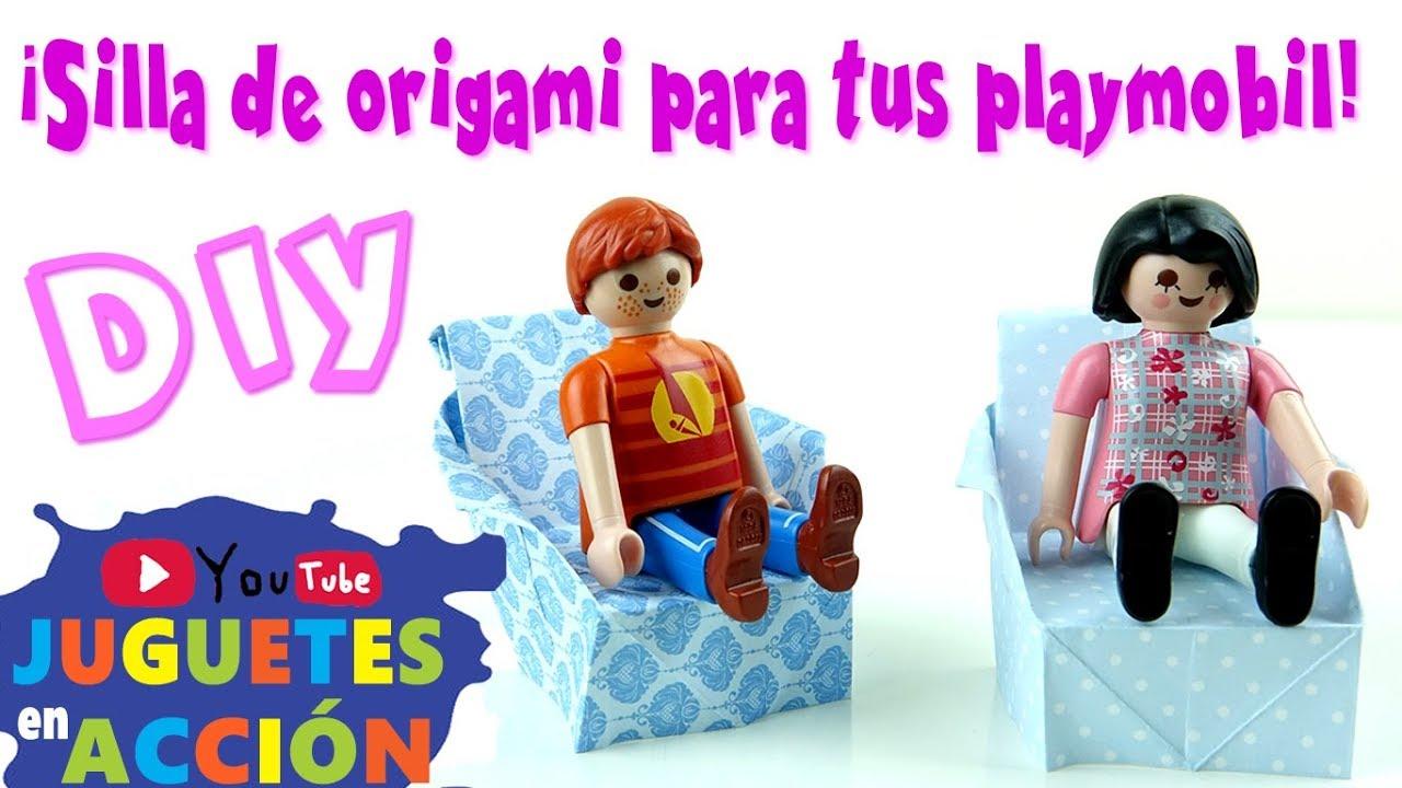 Aprende Muebles PlaymobilEn Español Hacer Origami Una A De Para Silla j4AR35Lq