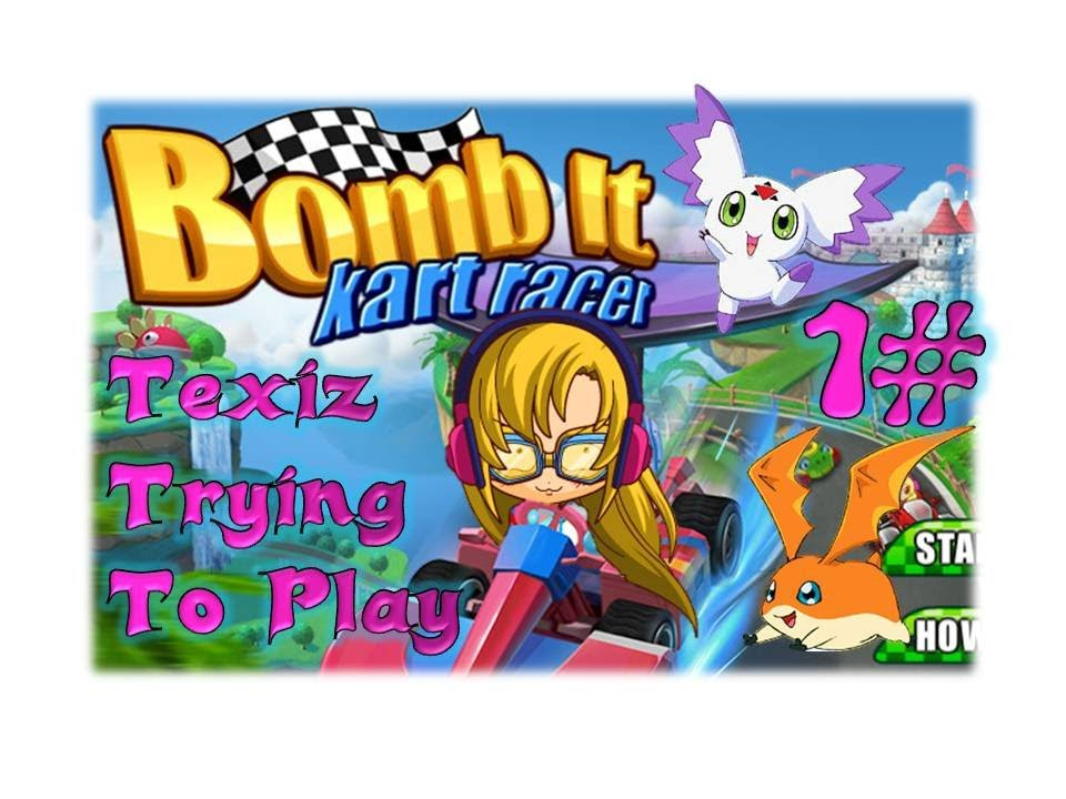Texiz trying to drive bomb it kart racer p1 youtube for Beb it