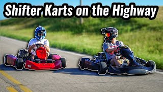 Racing shifter karts around town!!