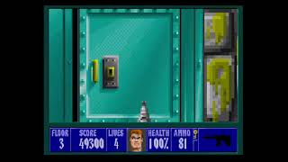 Wolfenstein 3D Playthrough Mission 2 Floor 3