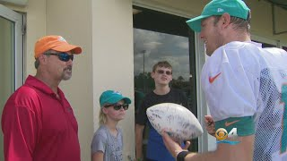 Dolphins Surprise 20-Year Military Veteran With Technology Makeover