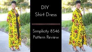 Download Video Simplicity 8546 Review | DIY Shirt Dress MP3 3GP MP4