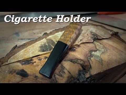 Making Wooden Cigarette Holder