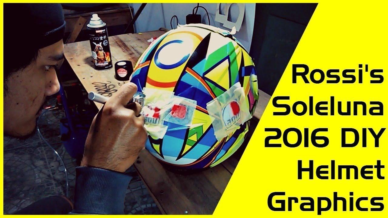 The Making of Valentino Rossi's Soleluna 2016 Graphic Helmet