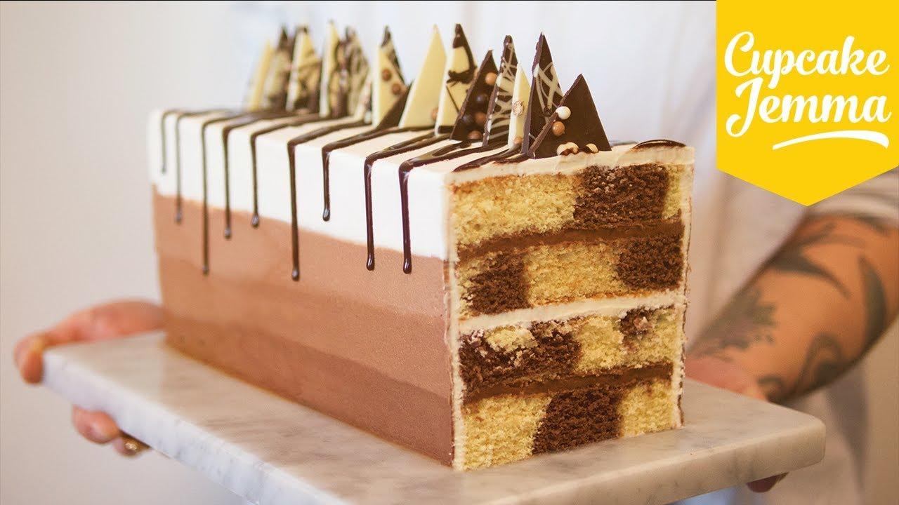 Rectangular Chocolate Marble Cake Recipe Cupcake Jemma Youtube