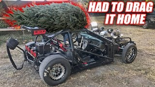Picking Up a Christmas Tree With Leroy... Had a Few