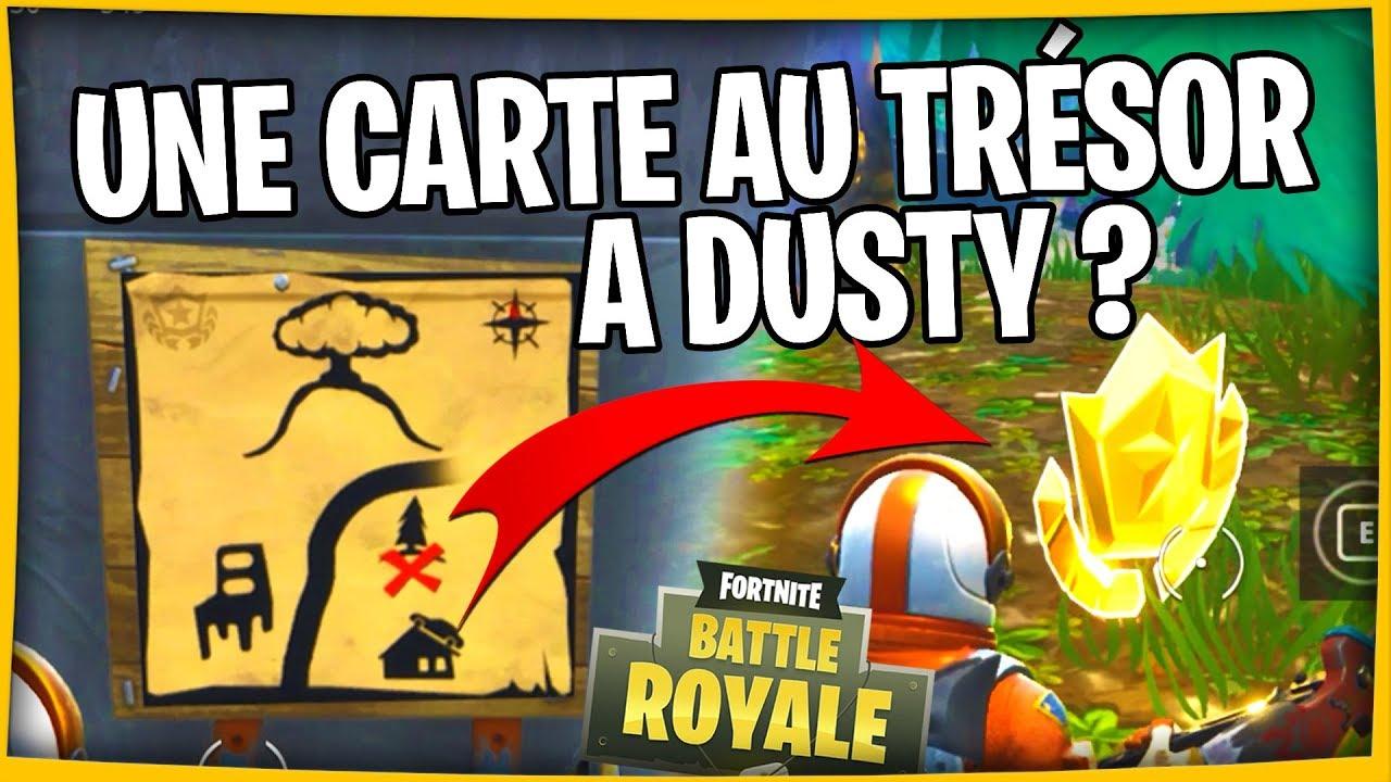 Carte Au Tresor Trouver A Dusty Depot.Comment Trouver Et Suivre La Carte Au Tresor Cachee A Dusty