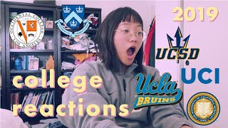 2019 college decisions reactions - i got into my dream school! (UCLA, columbia, berkeley, + more)
