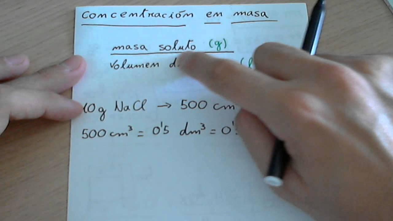 Concentración en masa - YouTube