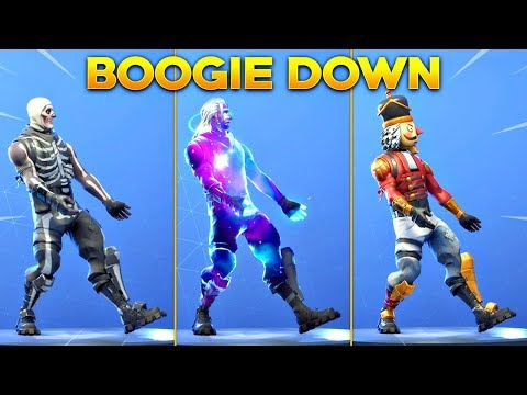 *NEW* BOOGIE DOWN EMOTE On All New Fortnite Skins & With All Popular Fortnite Skins