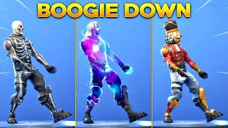 *NEW* BOOGIE DOWN EMOTE On All New Fortnite Skins & With All Popular Fortnite Skins!