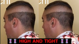 Men's haircut: high and tight skin fade with medium length on top **silent video**