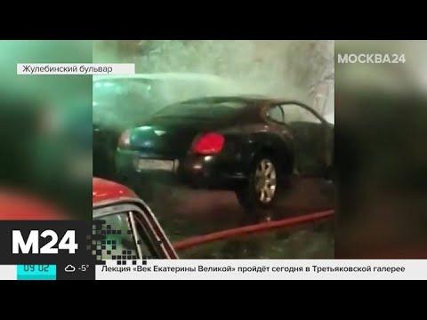 Bentley сгорел на юго-востоке столицы - Москва 24